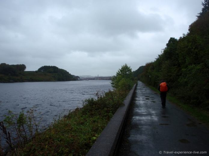 First mile of the Hadrian's Wall Path along the Tyne River