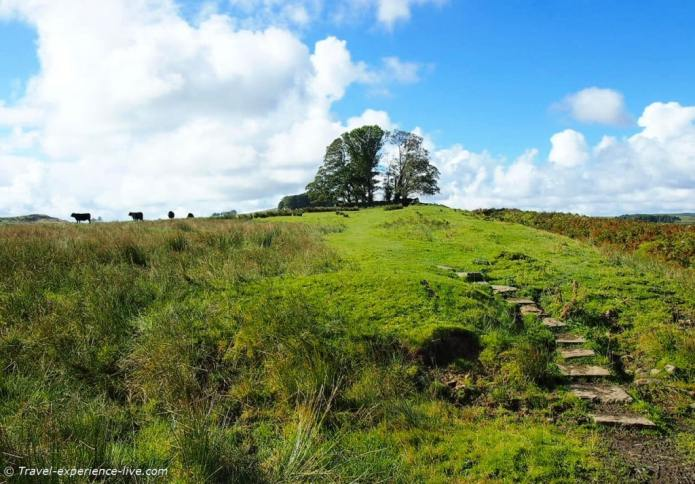 Typical northern English landscape, Hadrian's Wall Path