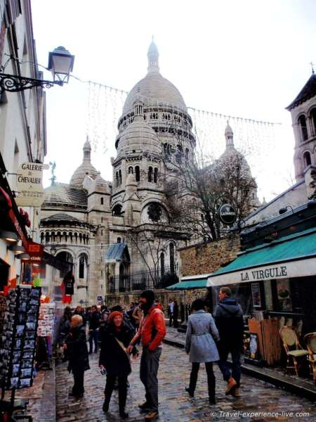 Montmartre and the Basilique du Sacre Coeur.