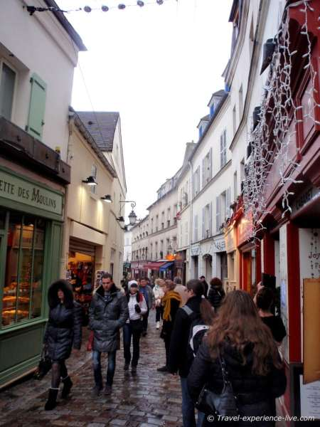 Small streets in Montmartre.