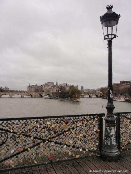Pont des Arts in Paris, France.