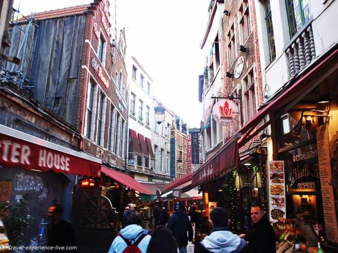 Rue des Bouchers in Brussels.