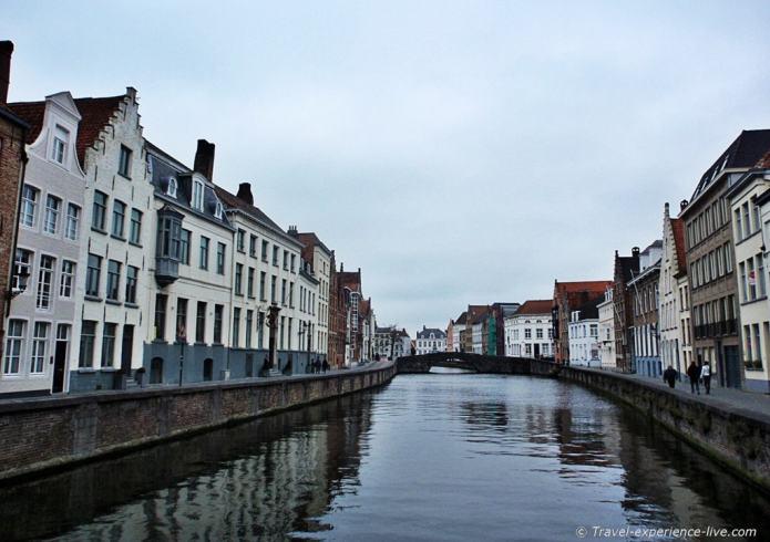 Canal in Bruges, Belgium.