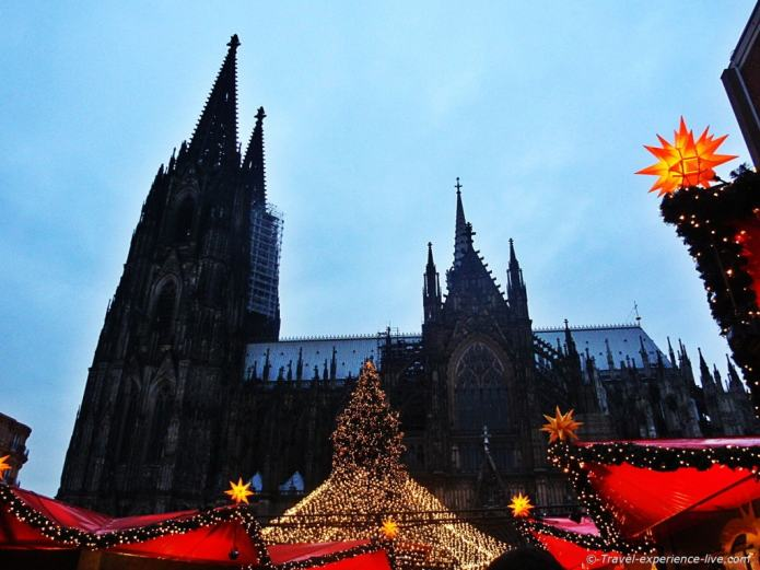 Christmas markets and the Dom in Cologne, Germany.