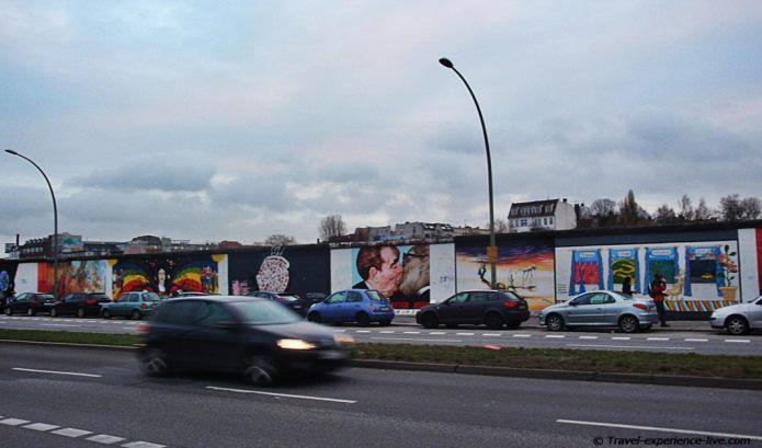 East Side Gallery in Berlin, Germany.