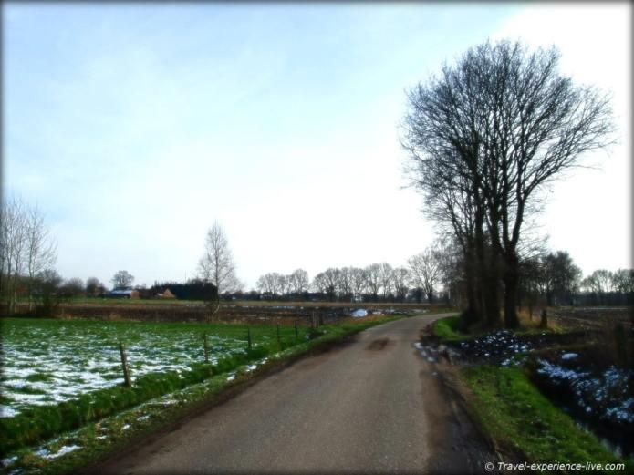 Country road in Flanders.