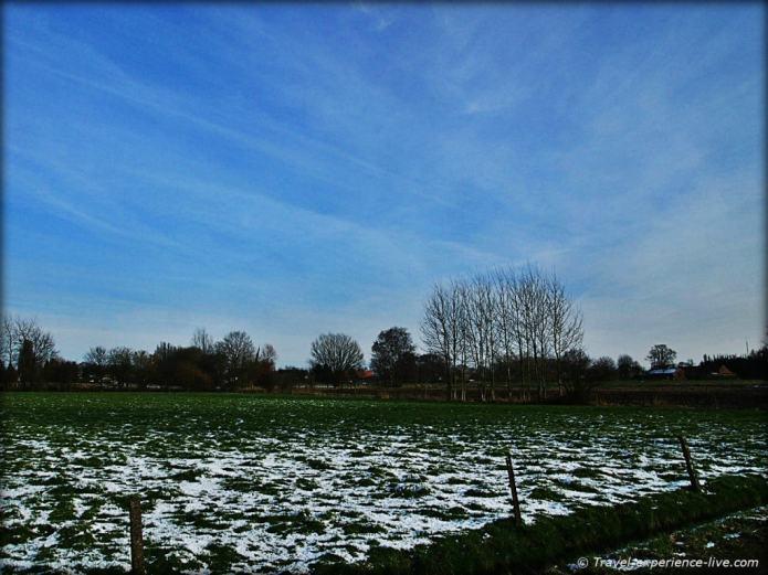 Fields in Larum, Flanders, Belgium.