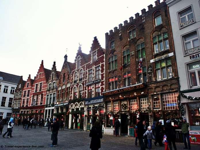 Town square in Bruges, Belgium.