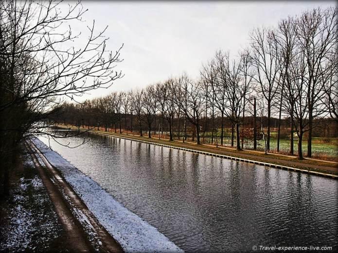 Canal in Larum, Geel, Belgium.