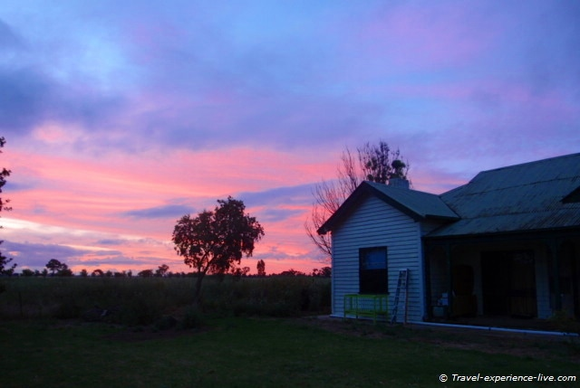 Sunset in Shepparton, Australia.