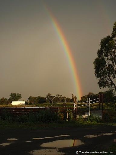 Beautiful rainbow in Australia.