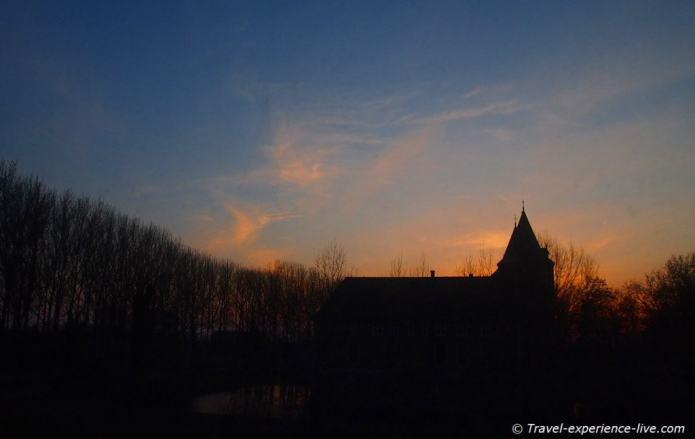 Sunset in the Netherlands, Dussen.