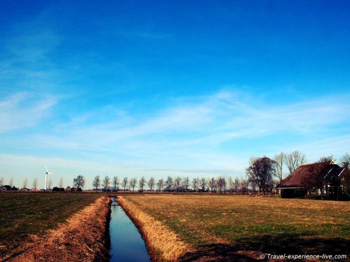 Dutch countryside in Frisia.
