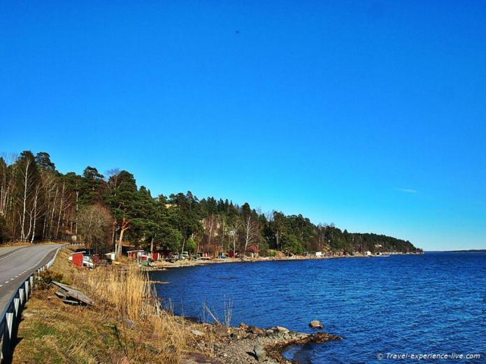 Beautiful coastline of southern Sweden.