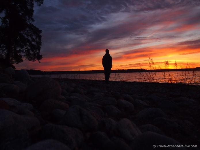 Amazing sunrise in Sweden.