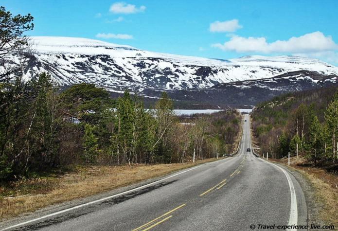 Road in Finnmark, Norway.