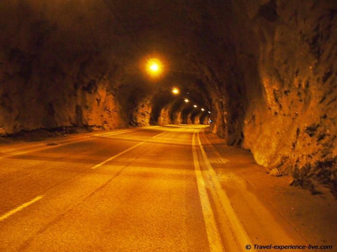 North Cape tunnel.