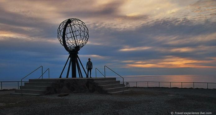 North Cape cycling, Norway.