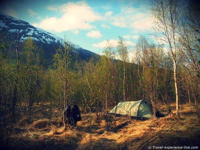 Wildcamping in Norway.