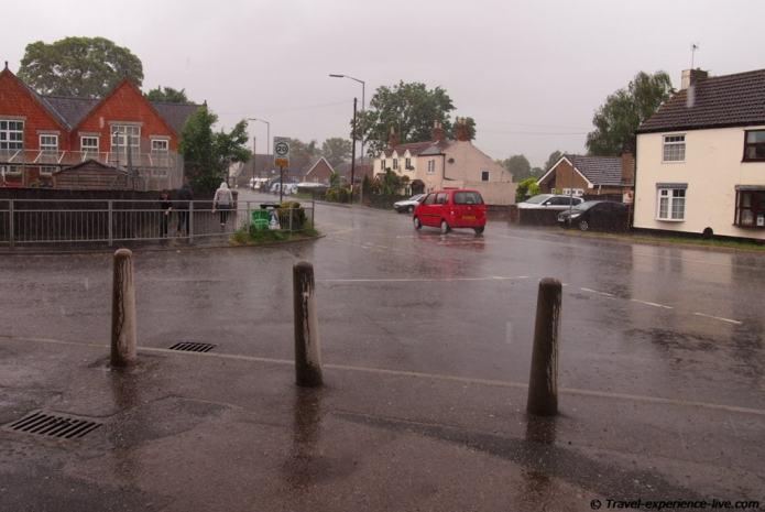 Rain in England.