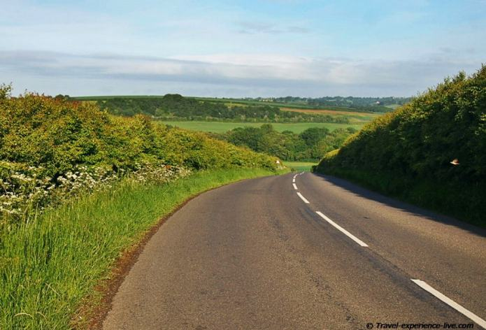 Cycling touring in England.