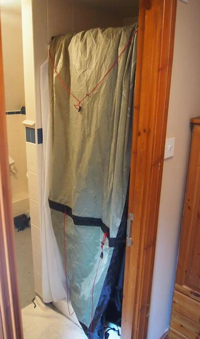 A wet tent needs to dry...