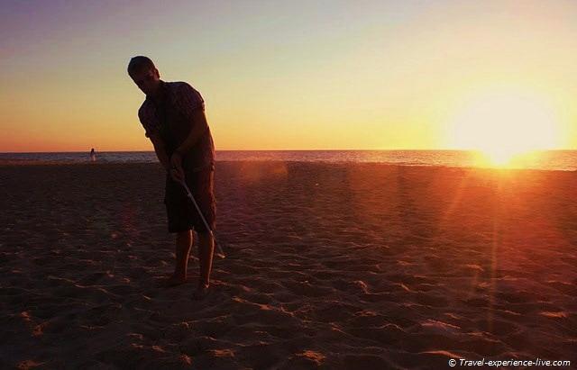 Beach golf in Bunbury, Australia.