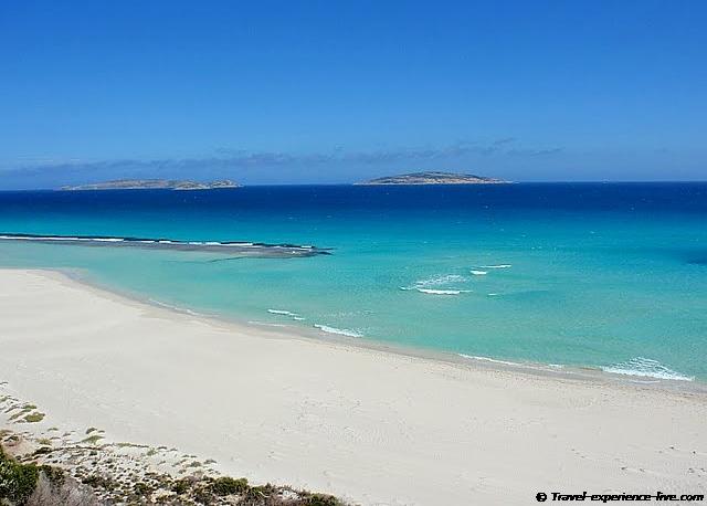 Blue ocean in Esperance, Australia.