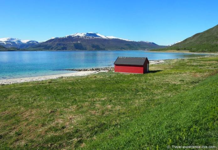 Boat house in northern Norway.