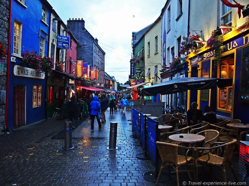 Rain in Galway, Ireland.