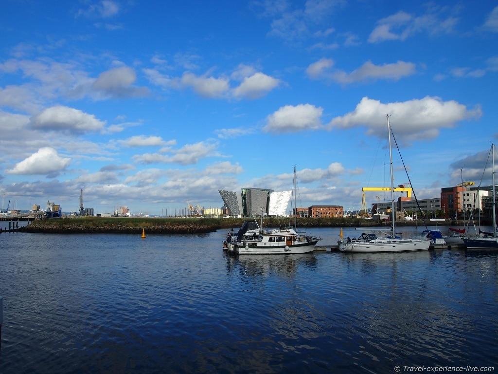 River Lagan and Titanic Belfast