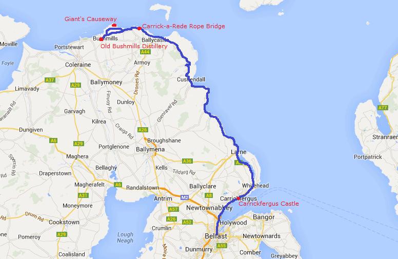 Antrim Coast Road Trip