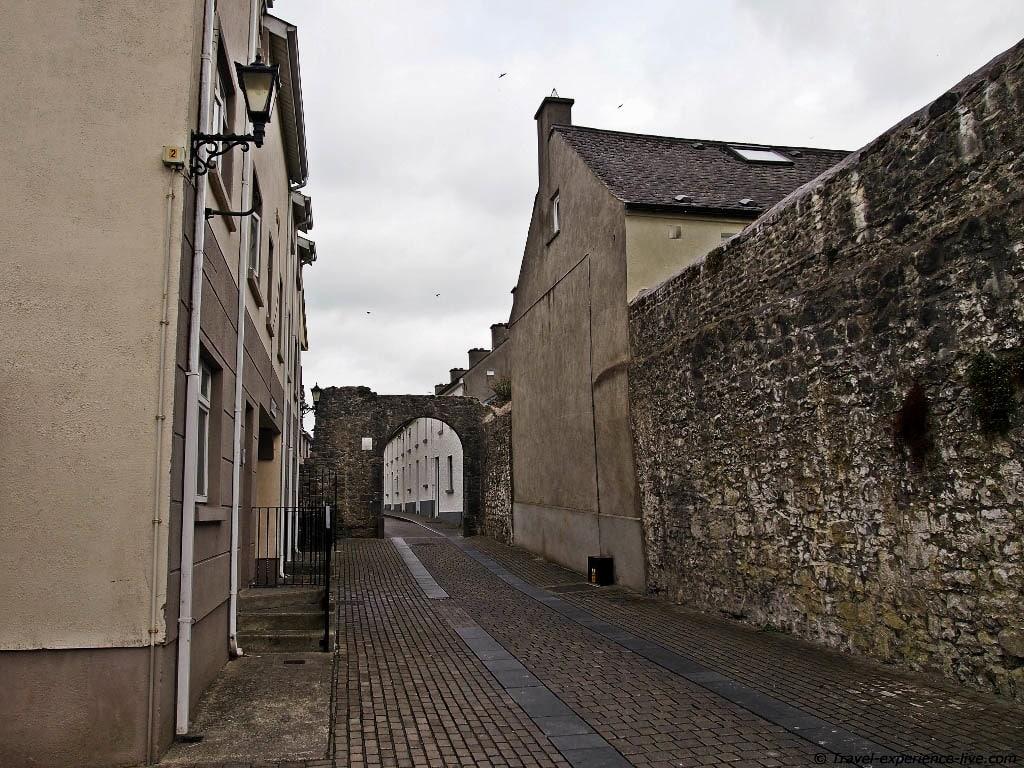 Cobblestone lane in Kilkenny