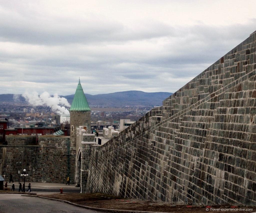City walls in Québec City, Canada.