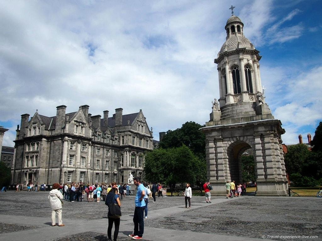 Trinity College in Dublin.