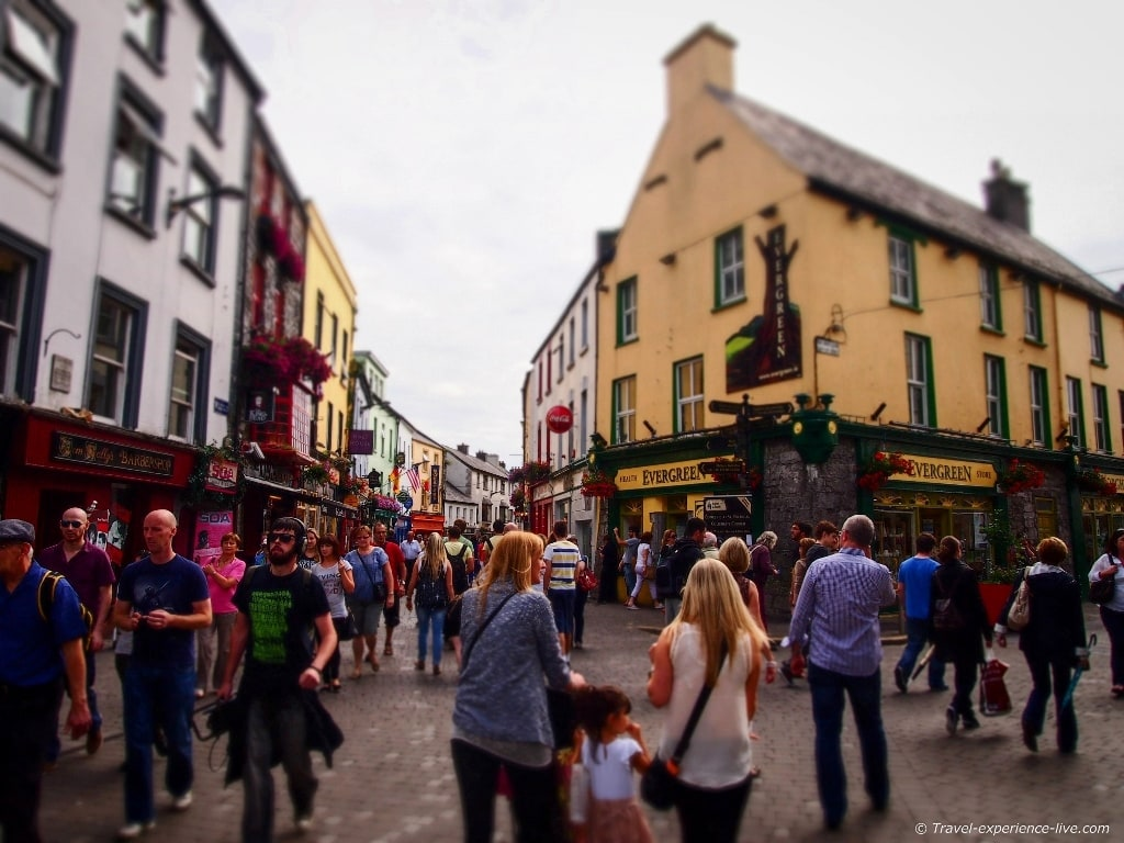 Shop Street in Galway.