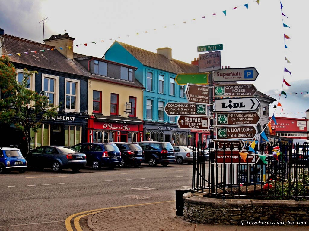 Irish road signs in Kenmare.
