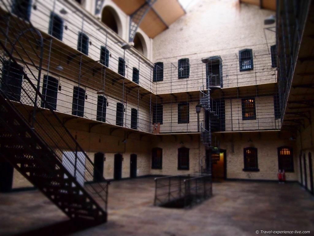 Kilmainham Gaol in Dublin, Ireland.
