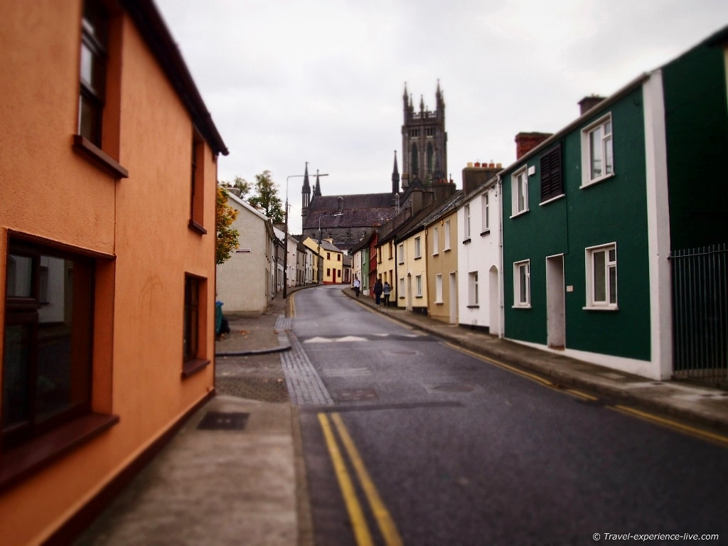 Irish street in Kilkenny.