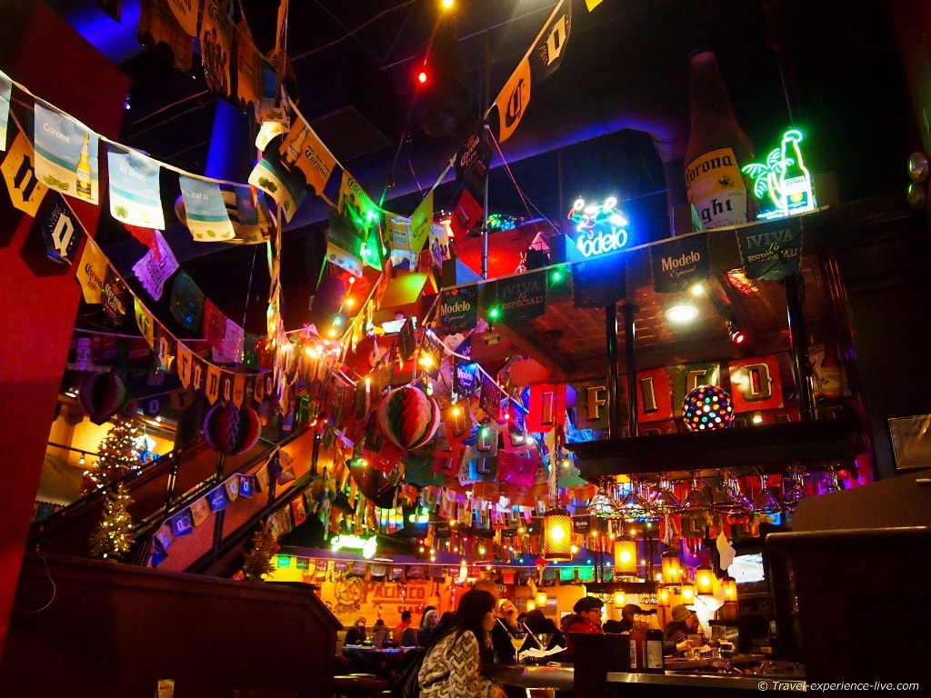 Mexican restaurant on Times Square.