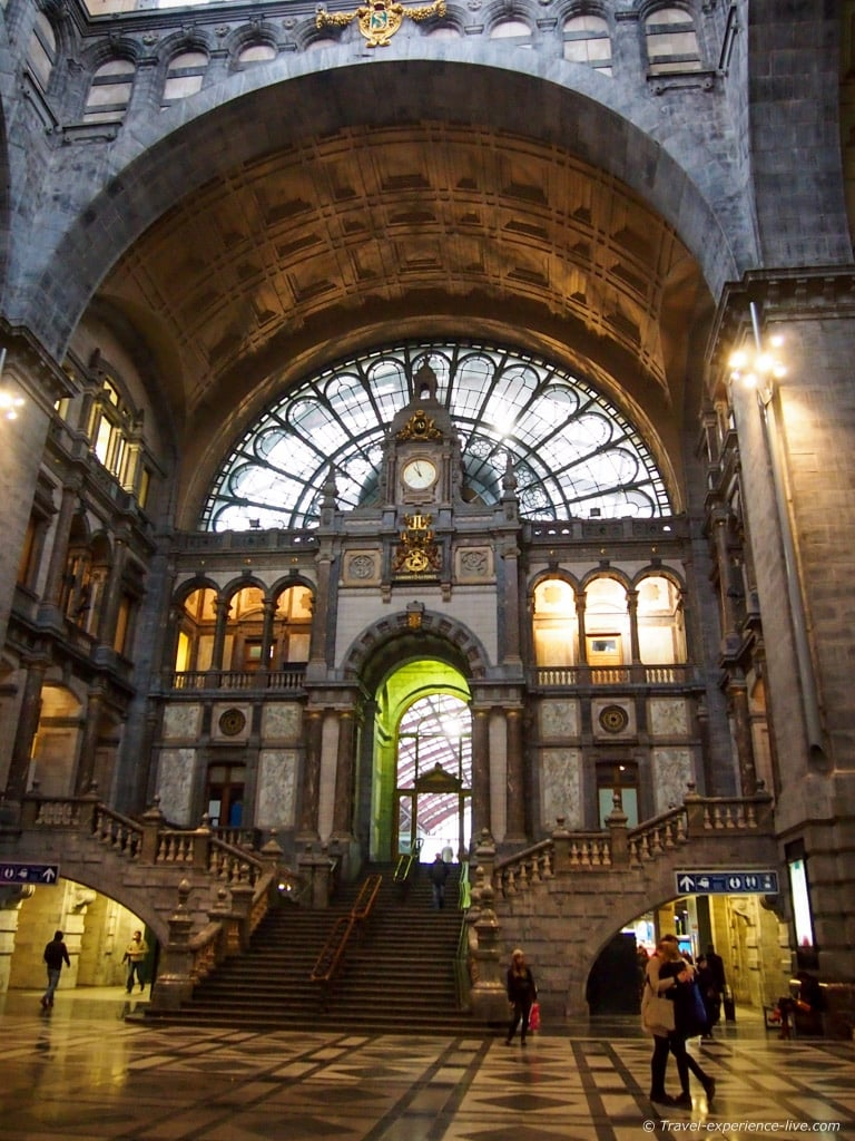 Entrance hall of Antwerp Central Station.