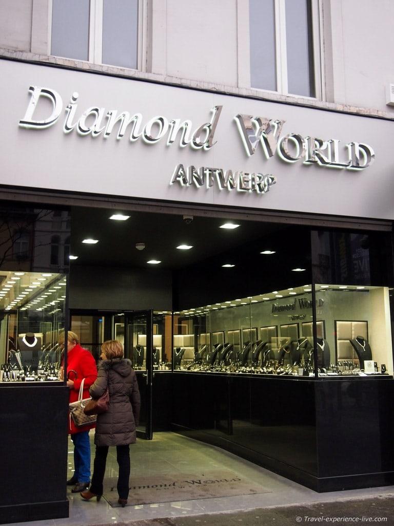 Diamonds in Antwerp, Belgium.