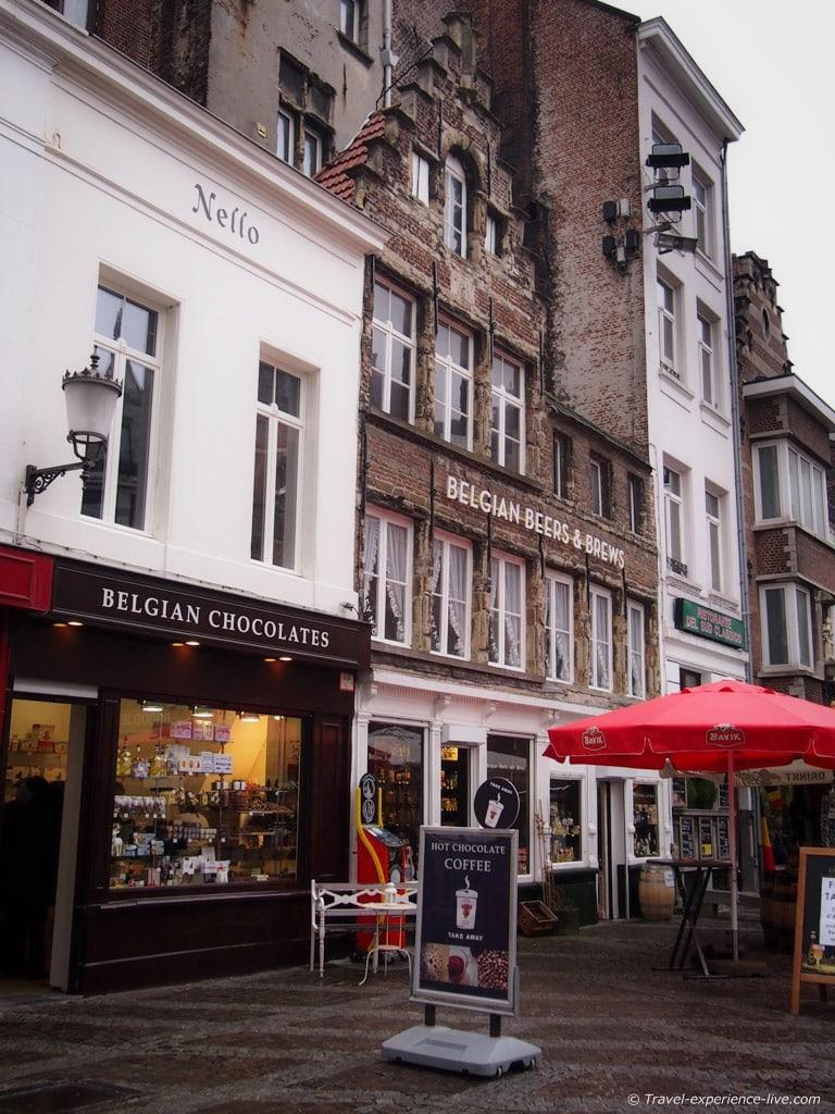 Chocolate shop in Antwerp, Belgium.