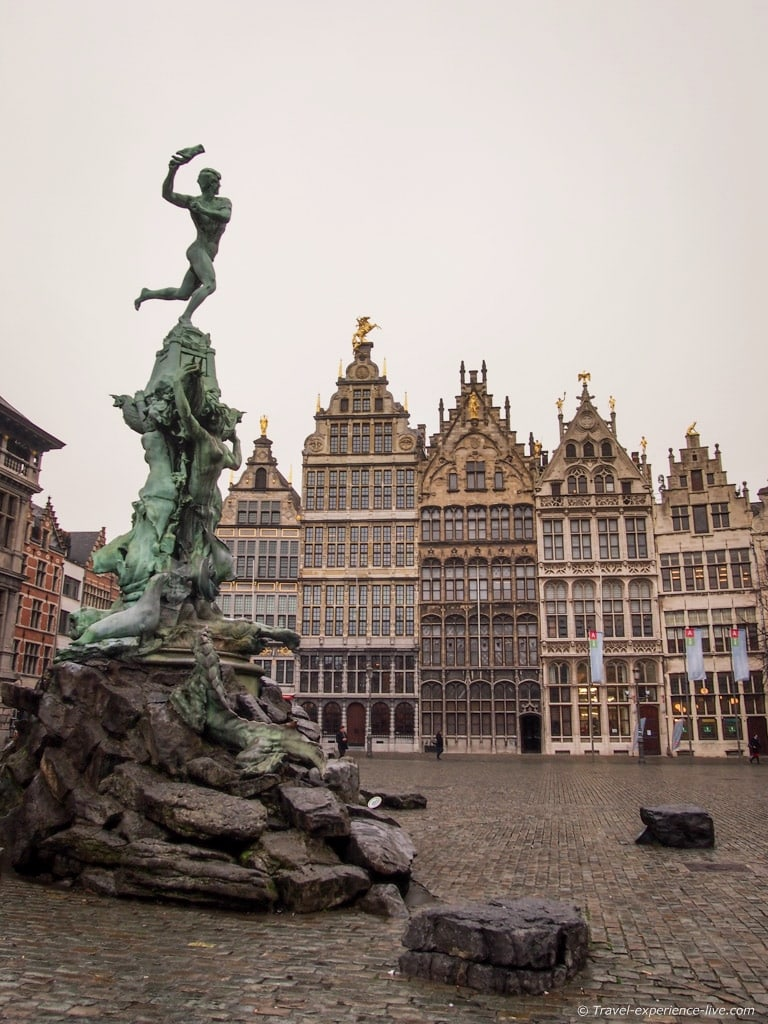 Statue of Brabo at the Town Square, Antwerp.