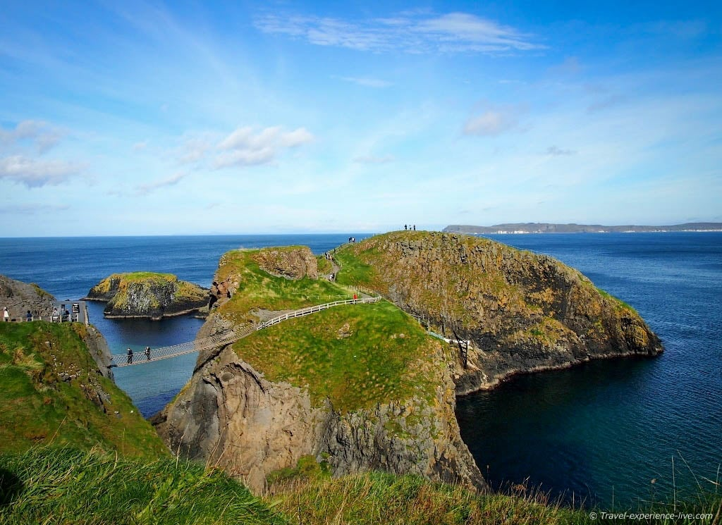 Carrick-a-Rede Rope Bridge in Northern Ireland.