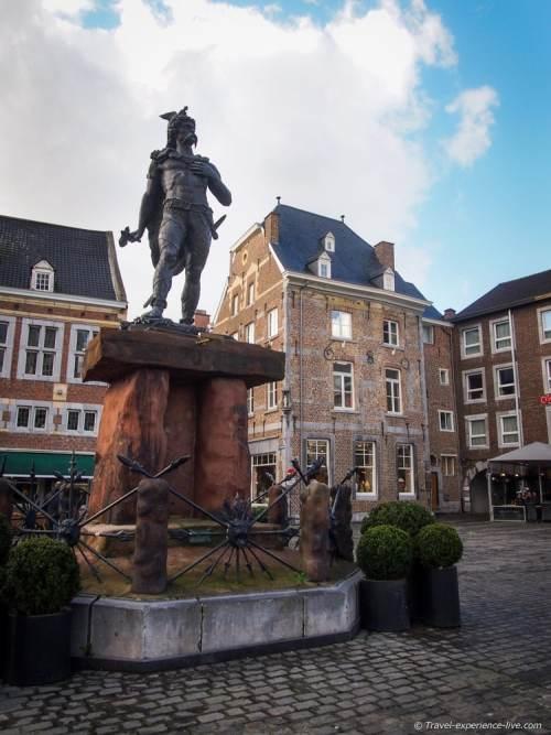 Ambiorix Statue at the town square of Tongeren, Belgium