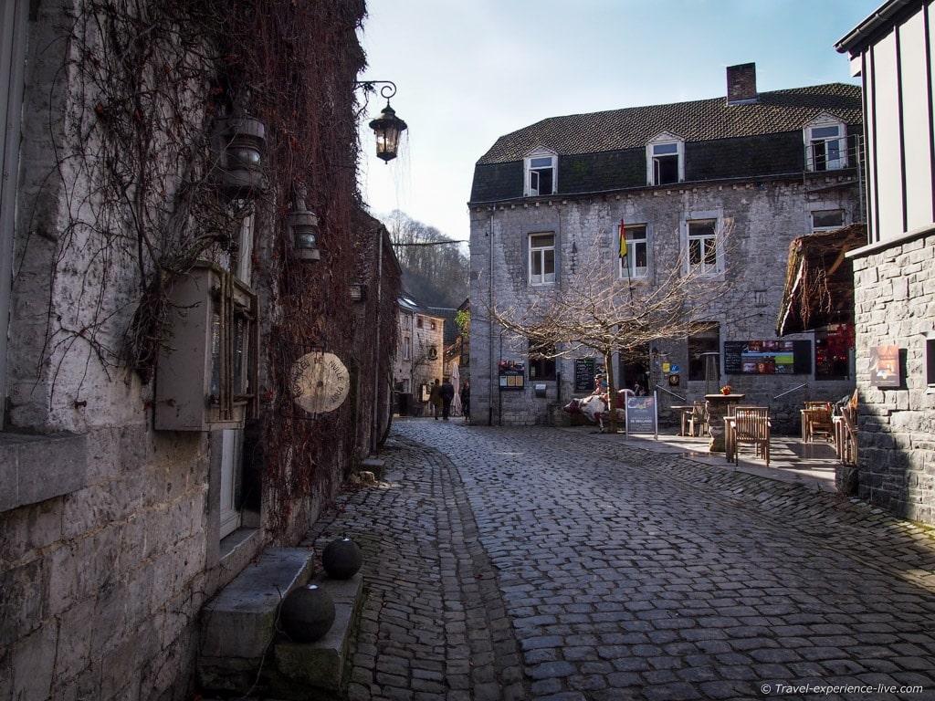 Cobble stone street in Durbuy, Belgium