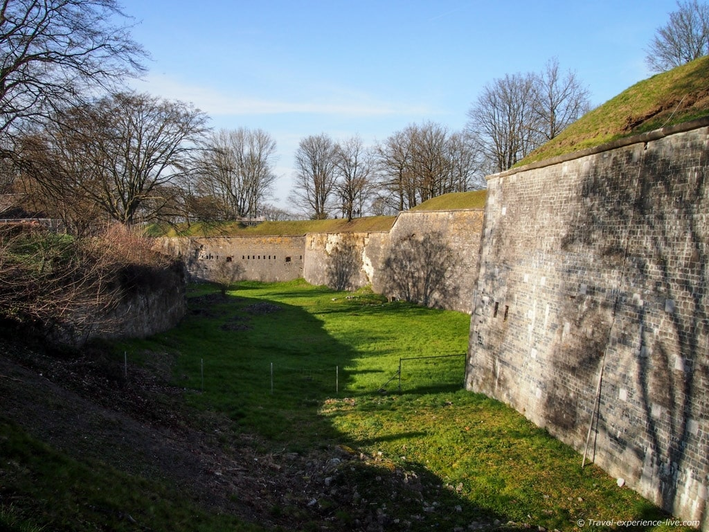 Fortified walls of the Citadel of Namur