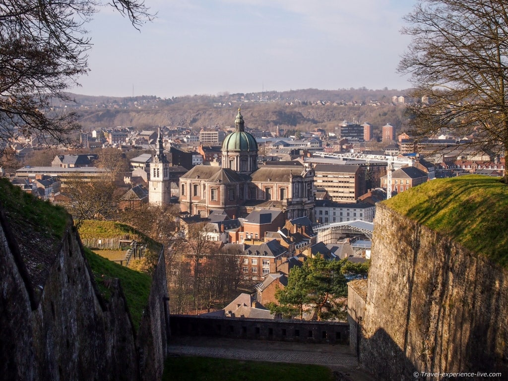 The Cathedral, seen from the Citadel in Namur, Belgium