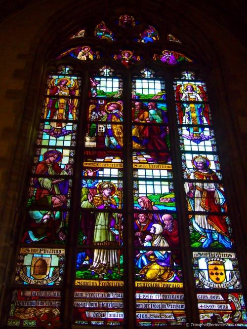 Stained-glass window in Aalst, Belgium